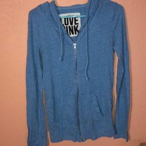 Women's PINK long sleeve zip up hoodie